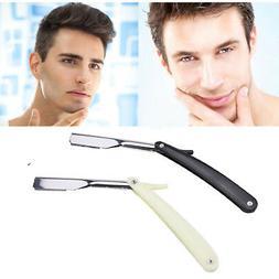 1x Straight Edge Barber Razor Folding Shaving Shave Knife Cr