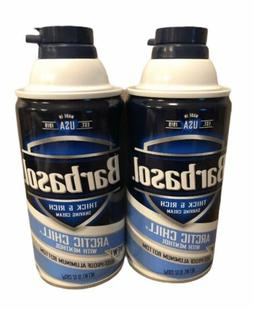 2 - Barbasol Arctic Chill with Menthol Thick and Rich Shavin