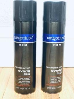 2 Neutrogena Men Razor Defense Shave Gel 7 oz Men's Sensit