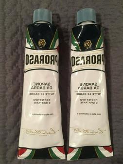 2 Proraso Shaving Cream SAPONE  DA BARBA  con aloe e vitamin