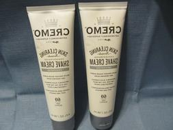 2--CREMO SKIN CLEARING SHAVE CREAM UNSCENTED-HELPS W/ RAZOR