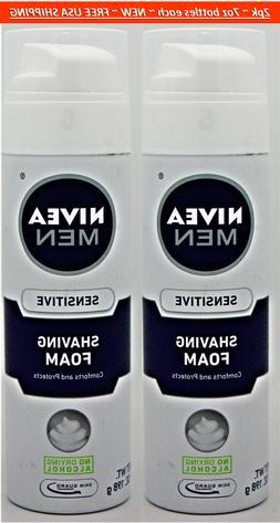2pk Nivea Men Sensitive Shaving Foam Cream w/Skin Guard Tech