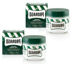 2x PRORASO Pre Shaving Cream  Eucalyptus Oil Menthol Bowl 2x