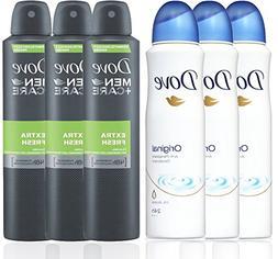 3 Bottles Dove Anti-Perspirant Deodorant Original & 3 Bottle
