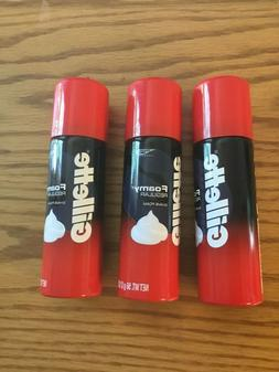 3 Gillette  Foamy Regular Shave Foam Cream  Men 2oz Travel S