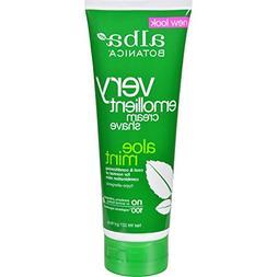 4 Pack of Alba Botanica Moisturizing Shave Cream Aloe Mint -