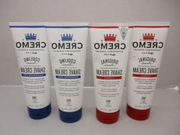 4 CREMO COOLING & ORIGINAL CONCENTRATED SHAVE CREAM 6 FL OZ