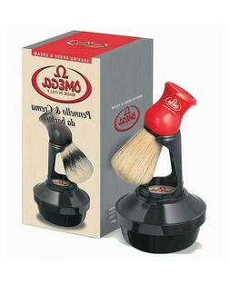 Omega 46065 Complete Shaving Set with Brush, Holder, and Soa
