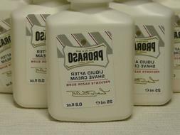 LOT OF 4: Proraso Liquid After Shave Cream Prevent Razor Bur