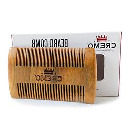 Cremo Dual-Sided 100% Sandalwood Beard Comb That Is Static F