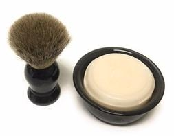 GBS 3 Piece set -Comes in Gift Box- Pure Badger Shaving Brus