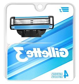 Gillette 3 Cartridges 4 Count