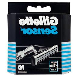 Gillette Sensor Refill Razor Blade Cartridges - 10 Pack