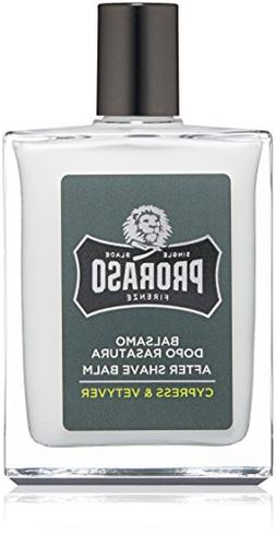 Proraso Single Blade After Shave Balm, Cypress & Vetyver, 3.