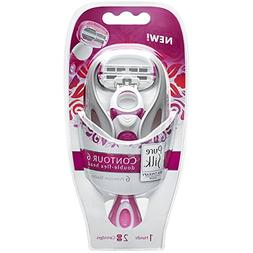 Pure Silk Contour 6 Women's Razor with 2 Razor Blade Refills