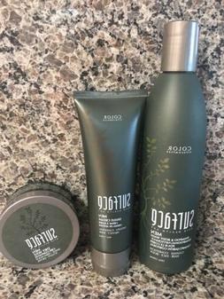 Surface Men Shampoo & Body Wash 10 oz AND Shave Cream 4 oz &