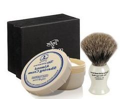 ALMOND - Taylor of Old Bonds Street Pure Badger Brush & Crea