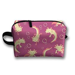 AZNM Axolotl In Pink Travel Large Makeup Bag Train Case Toil