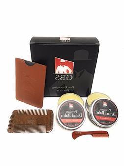 GBS Mens Beard Balm & Comb Gift Set - Beard Balm Combo - Swe