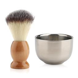 Shaving Cream Brush and Bowl, Beard Lather Brush, Beard Shav