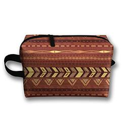 Brown And Black Southwest Tribal Aztec Oxford Travel Toiletr