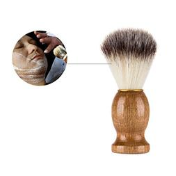Expxon Makeup Brushes,Wooden Men Shaving Bear Brush Best Bad