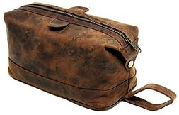 Men's Buffalo Genuine Leather Toiletry Bag waterproof Dopp K