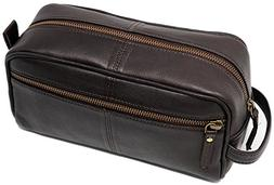 Genuine leather Toiletry Bag for Men travel kit dopp kit Gro