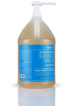 Cove Castile Soap - Unscented 128 oz / 1 Gallon - Includes P