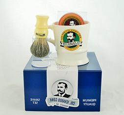 Colonel Conk Model 221 Mug, Mixed Badger Brush and Soap