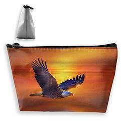 customgogo Women's Flying Eagle Travel Makeup Bags, Portable