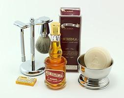 GBS Shaving Gift Set - Merkur Long Handle 23c Safety Razor +