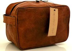 Universal Genuine Handmade Leather Unisex Shaving bag Toilet