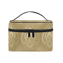 MaMacool Gold Pattern Cosmetic Bags for women Travel Makeup