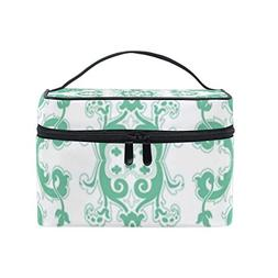 MaMacool Green Pattern Cosmetic Bags for women Travel Makeup