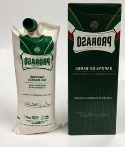 PRORASO Green, Shaving Cream, Barber Size, 500ml, Menthol, L