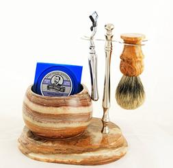 Colonel Conk No.252 Hand Crafted Shave Set, Chrome