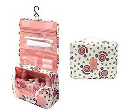Vigourtrader Hanging Toiletry Bag Travel Cosmetic Bag Makeup