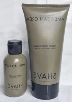 AMERICAN CREW Herbal Shave Cream 5.1 oz & Classic Moisturize