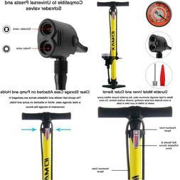 Idmax Bike Pump, Ergonomic Bike Floor Pump Bicycle Tire Air