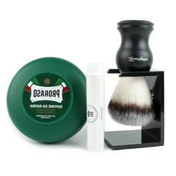 Kengsington Synthetic Bristle Wet Shaving Brush & Poraso Sha