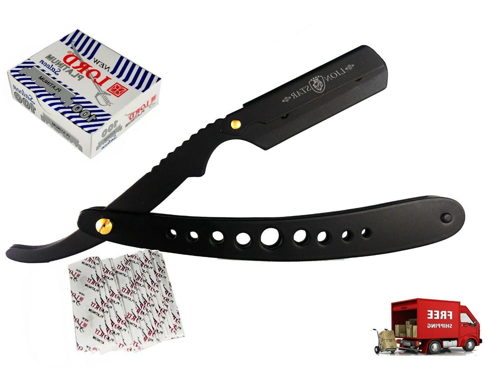 100 blades black barber straight shaving razor