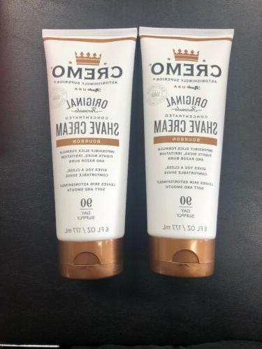 2 bourbon original formula concentrated shave cream