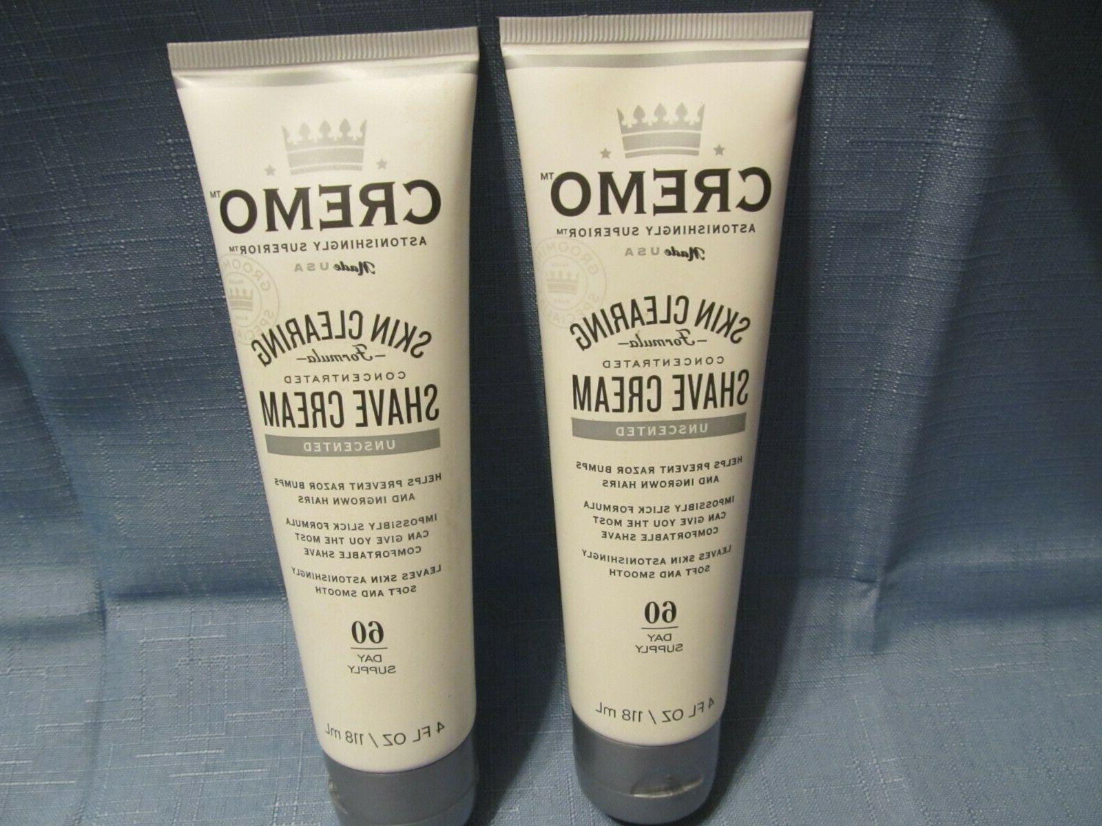 2 skin clearing shave cream unscented helps