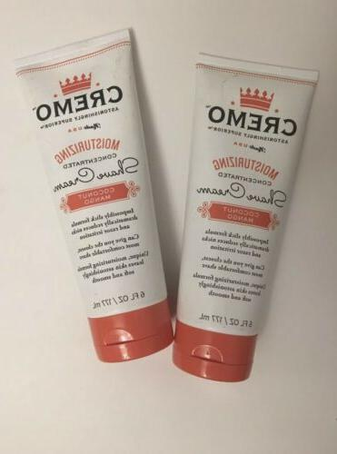 2 tubes of coconut mango moisturizing shaving