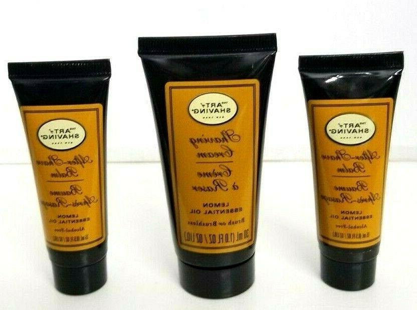 3 pcs art of shaving lemon essential