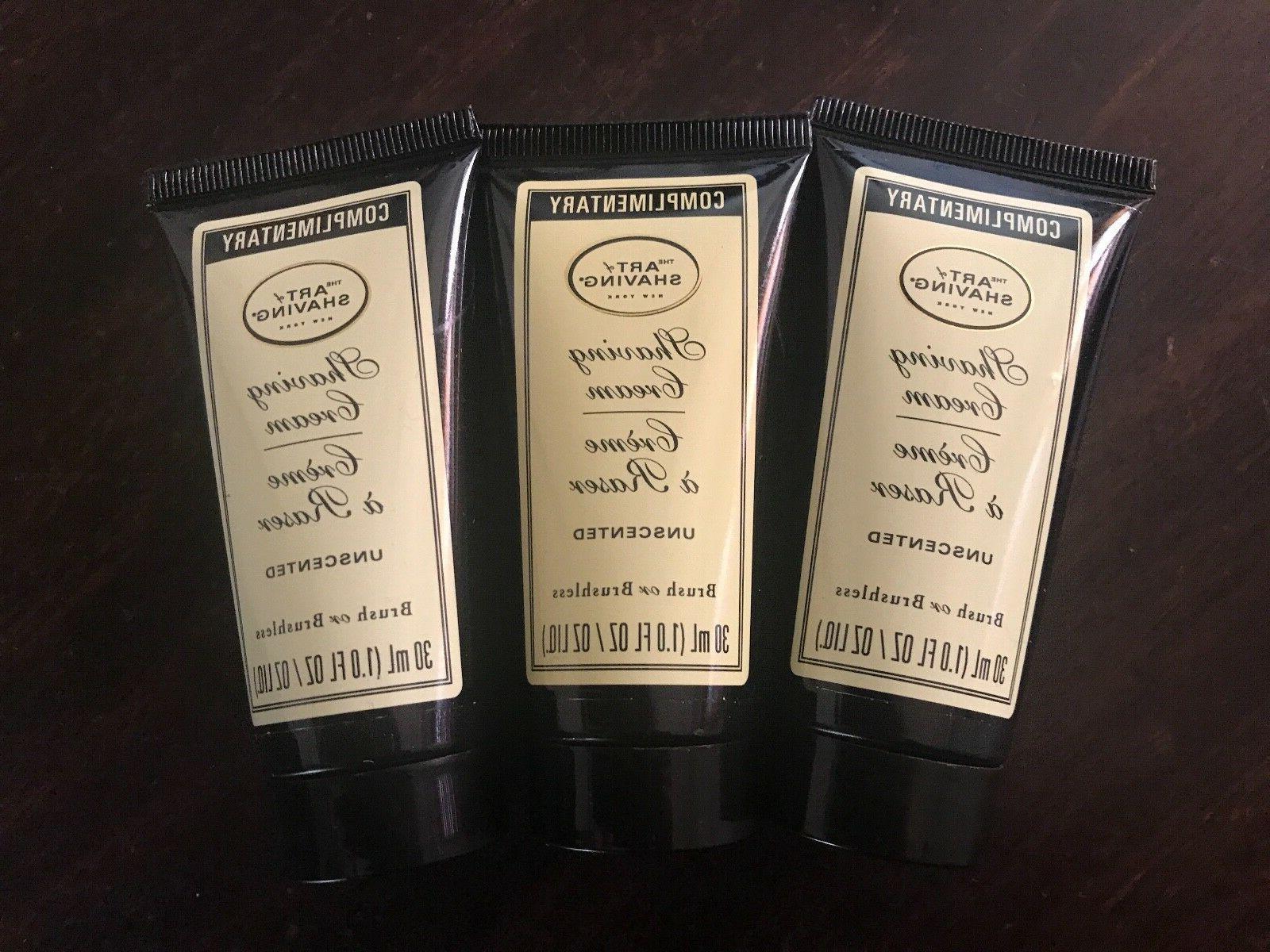 3 shaving cream unscented 30 ml
