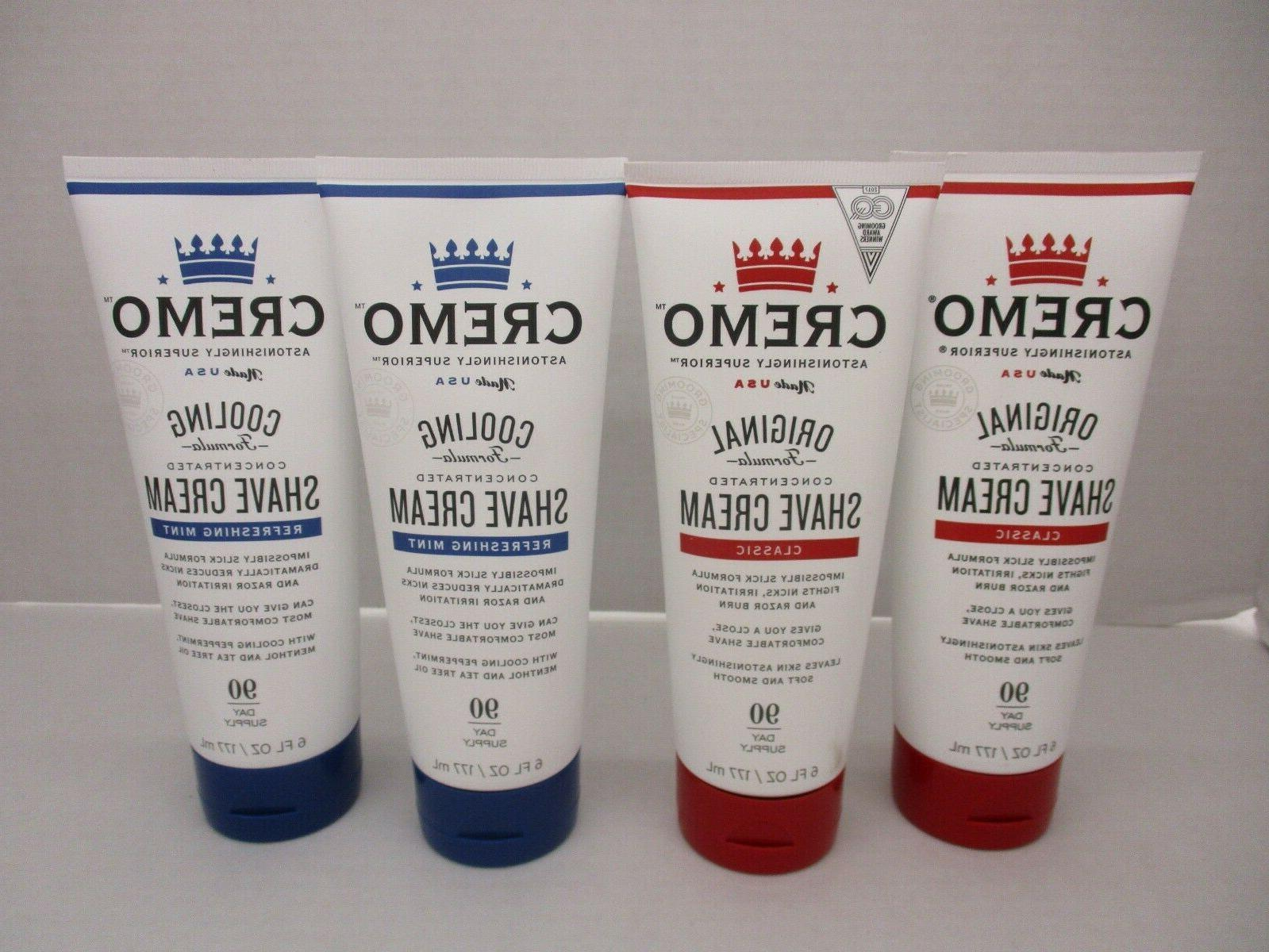 4 cooling and original concentrated shave cream
