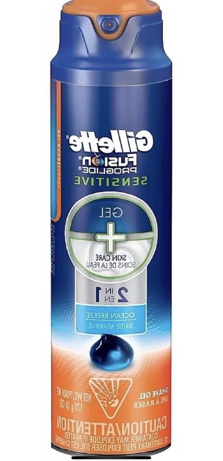 6-PACK of Gillette ProGlide Sensitive Shave 6 OCEAN -New