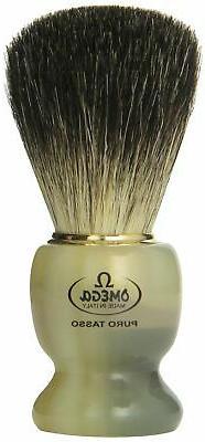 Omega 63171 Stripey 100% Pure Badger Shaving Brush with Stan